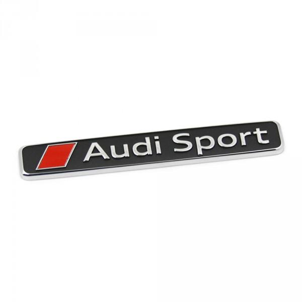 Original Audi Sport Schriftzug Exterieur Emblem Logo Zeichen chrom