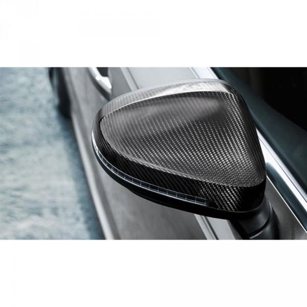 Original Audi A4 A5 (B9) Außenspiegelkappen Set Carbon Exterieur Tuning Kappen