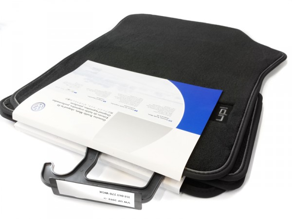 Premium Velours Fußmatten Original VW up! Textilfußmatten 4x Stoffmatten Schriftzug schwarz