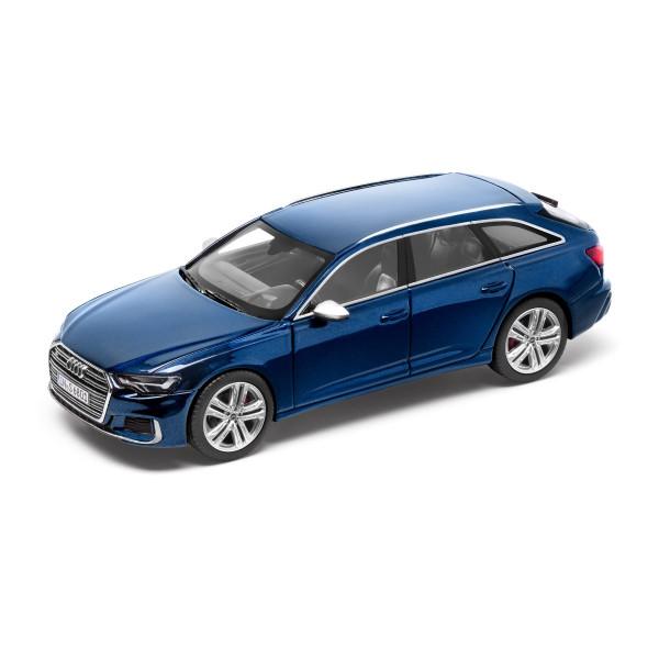 Original Audi Sport Modellauto 1:43 Miniatur S6 Avant blau 5011816231