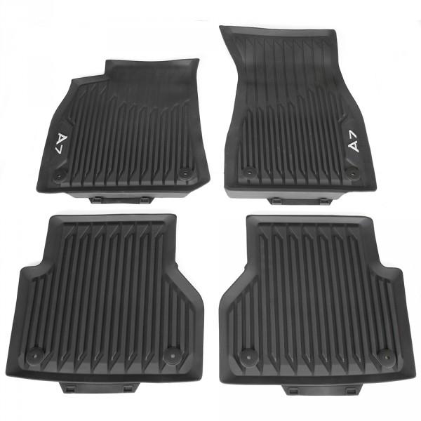 Original Audi A7 (C8 4K) Sportback Gummi Fußmatten v+h Gummimatten Allwettermatten schwarz