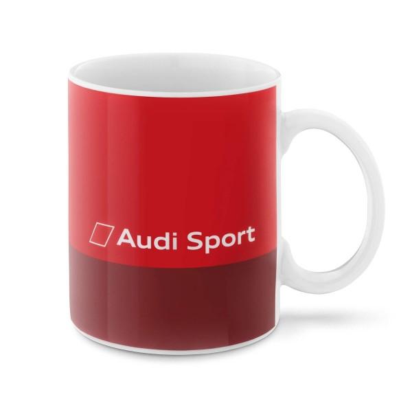 Original Audi Sport Tasse rot Porzellantasse Logo