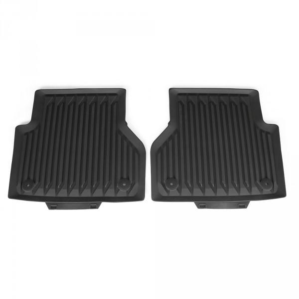 Original Audi A6 A7 (C8) Gummi Fußmatten hinten Gummimatten Allwettermatten schwarz
