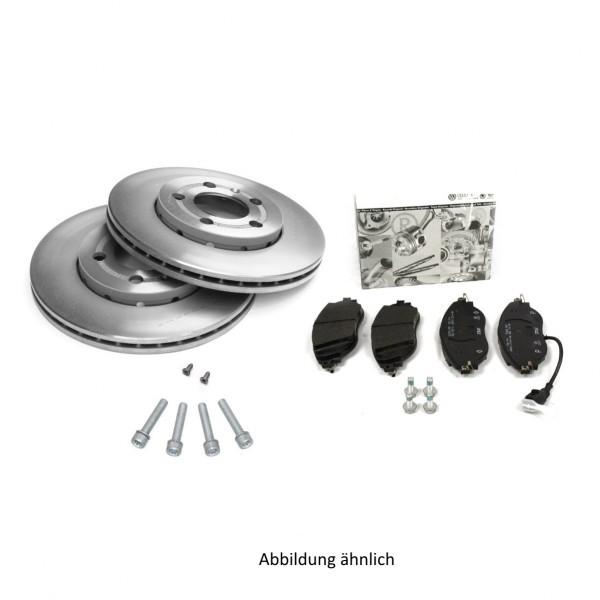 Original Audi Bremsenkomplettsatz Vorderachse Bremsen 1LB Bremsscheiben Bremsbeläge 8K0098301J