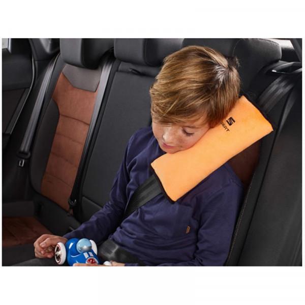 Original Seat Gurtkissen Kinder Kissen Gurt orange Kopfkissen Kopfstütze Accessoires