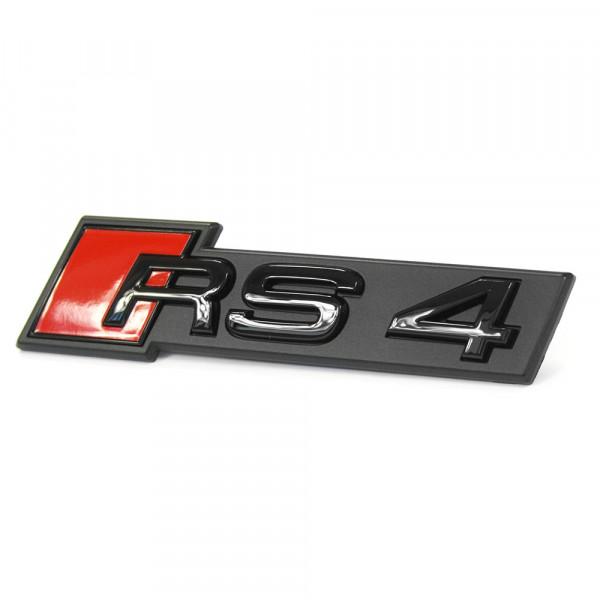 Original Audi RS4 (B9) Schriftzug Kühlergrill Tuning Emblem Exclusive Black Edition Logo