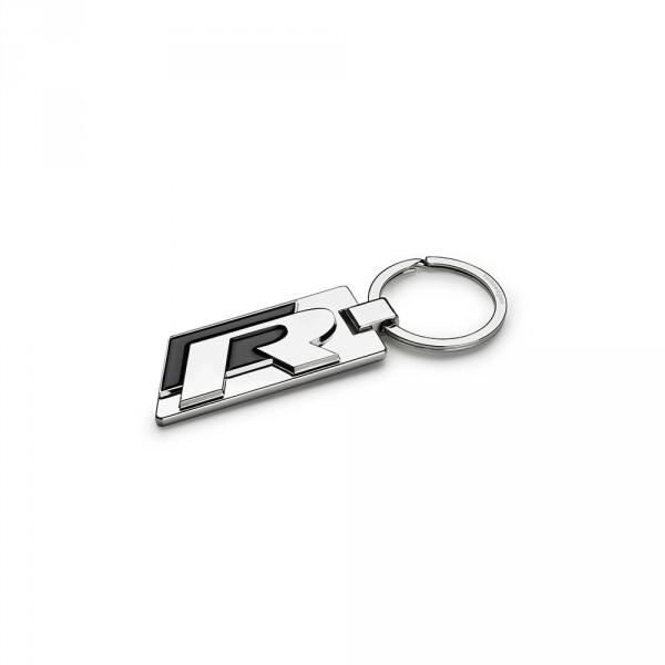 Original VW R Schlüsselanhänger Key tag Keyring Metall Anhänger silber