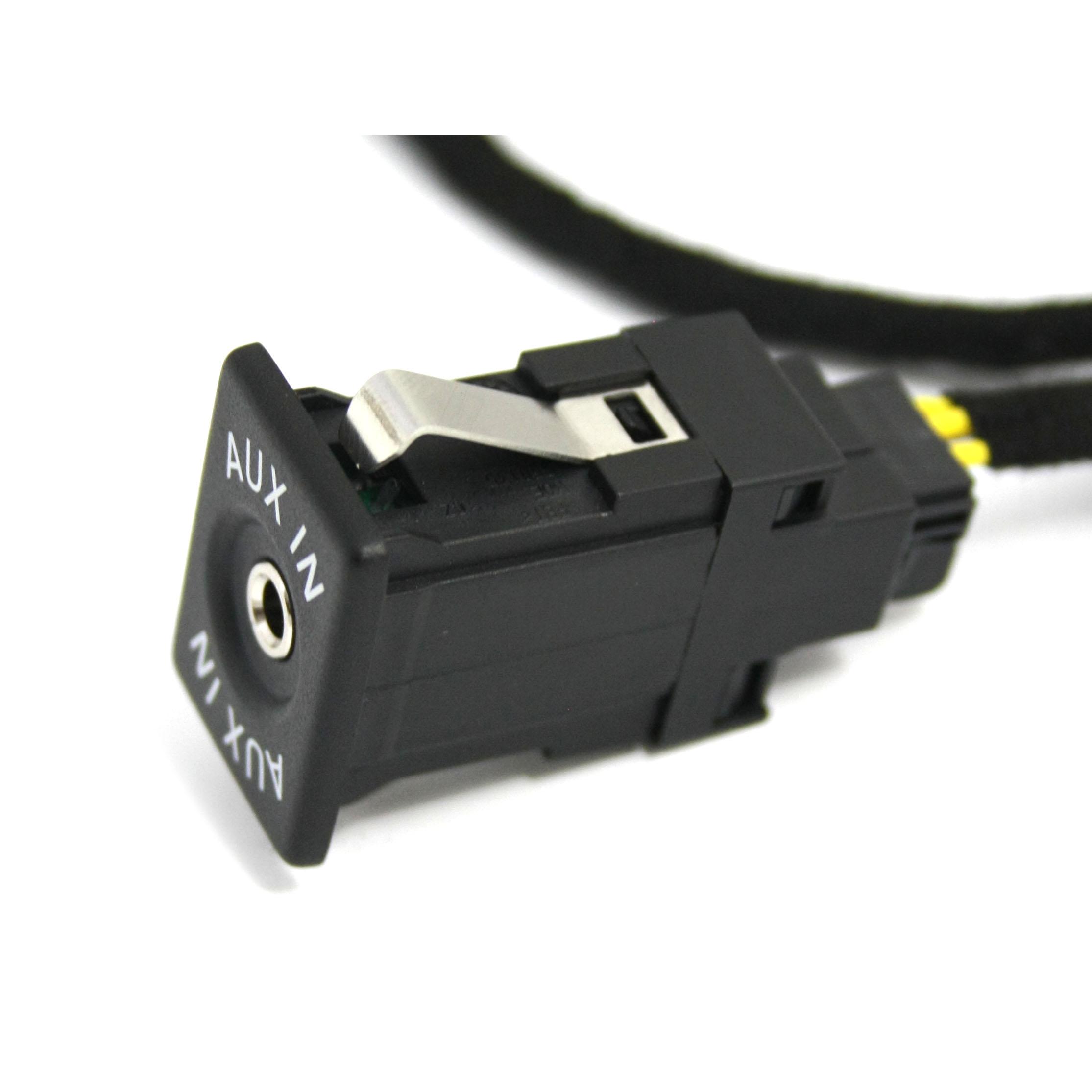 Original VW AUX IN Buchse Set Adapter Kabel Multimediabuchse Volkswagen Original Teile