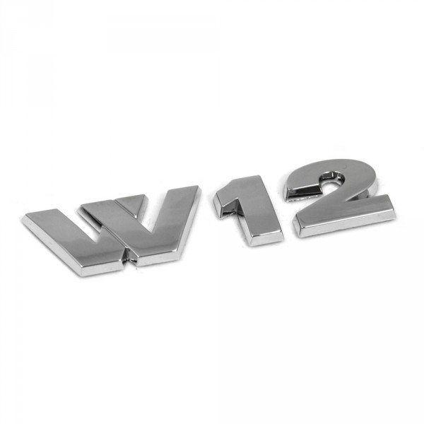 Original VW W12 Schriftzug Tuning Emblem Logo chrom