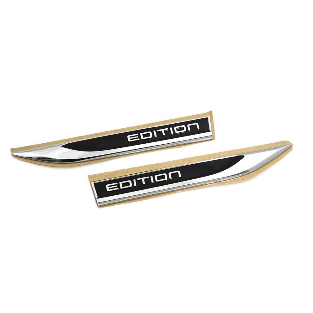 original vw golf 7 edition plaketten seitlich kotfl gel emblem logo schwarz chrom ahw shop. Black Bedroom Furniture Sets. Home Design Ideas