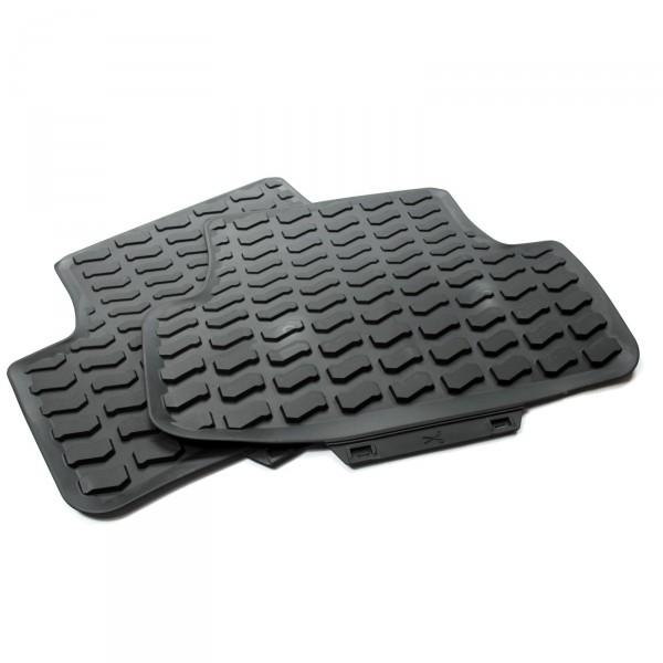 Gummi Fußmatten Allwettermatten Original Audi Q2 Gummimatten hinten 2-tlg schwarz