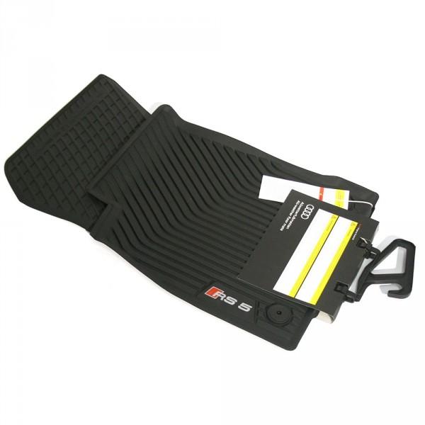 Original Audi RS5 (B9) Sportback Gummi Fußmatten vorn Gummimatten Allwettermatten schwarz