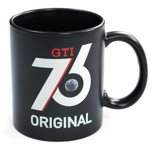 Original VW GTI Tasse Porzellan Becher Classic 76 GTI Kaffeetasse schwarz Accessoires
