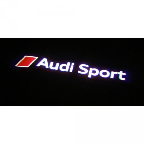 "Audi Original LED Projektor links ""Audi Sport"" Einstiegsbeleuchtung Türbeleuchtung"