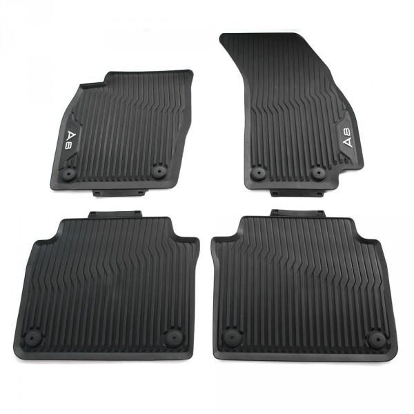 Original Audi A8 (D5 4N) Gummi Fußmatten v+h Gummimatten Allwettermatten schwarz