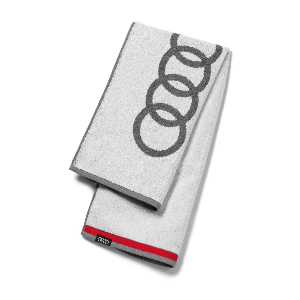 Original Audi Sport Handtuch 80x150cm weiß/grau Badetuch groß Strandtuch