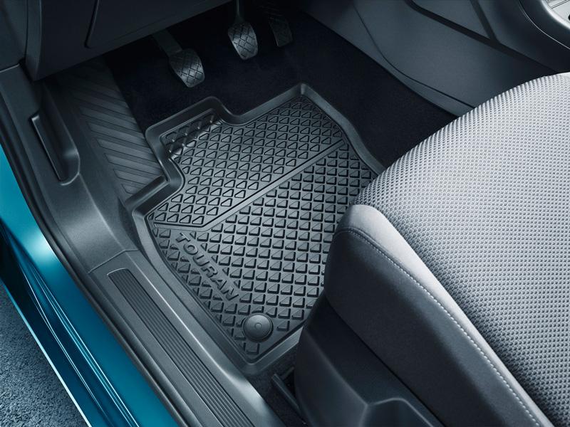 Allwettermatten vorn Original VW Transporter T5 T6 Titanschwarz Fußmatten