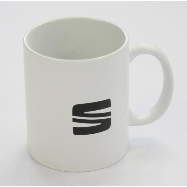 Original Seat Tasse weiß Kaffeetasse Keramiktasse Becher Accessoires 6H1069601KAB