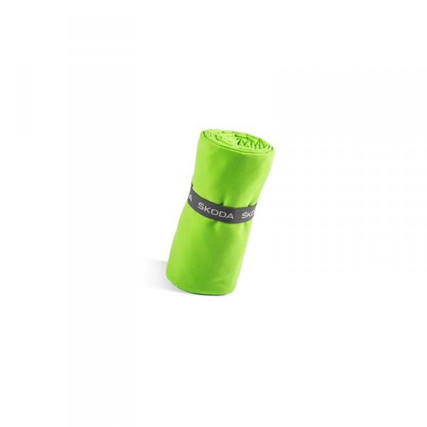 Original Skoda Sporthandtuch Funktionshandtuch 70x150cm Handtuch grün