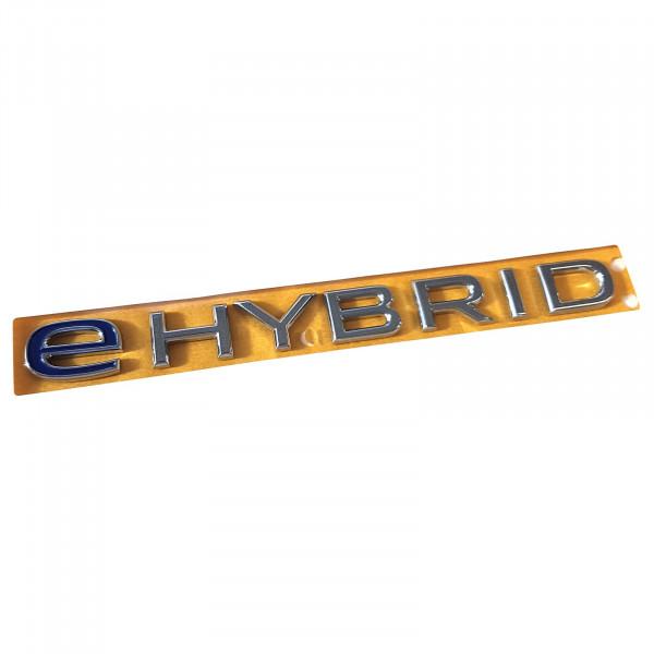 Original VW Schriftzug eHYBRID Emblem Logo Aufkleber blau chrom glänzend