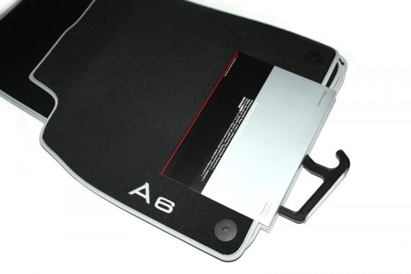 Textil-Fußmatten Premium Original Audi A6 S6 4G 4er-Set vorn + hinten Velours S-line