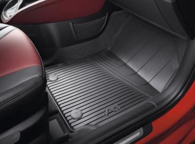 Audi A1 S1 Gummi Fußmatten vorn schwarz Original Zubehör Allwettermatten