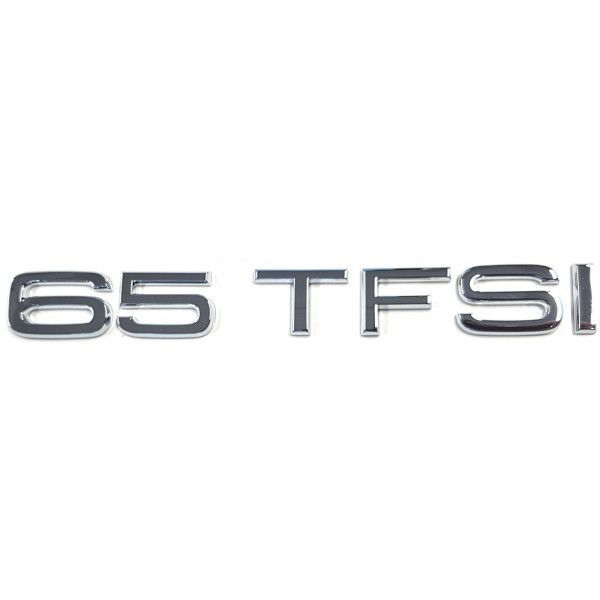 Original Audi Schriftzug 65 TFSI Emblem Logo Aufkleber chrom glänzend 4H0853744J2ZZ