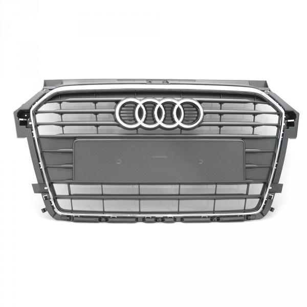 Original Audi A1 (8X) Facelift Kühlergrill Exterieur Grill steingrau chrom