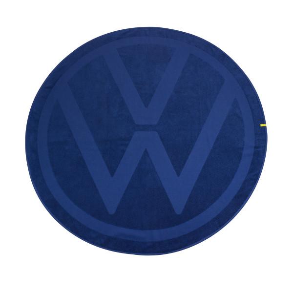 Original VW Badetuch rund Handtuch Strandtuch VW Logo Picknickdecke Baumwoll-Frottee
