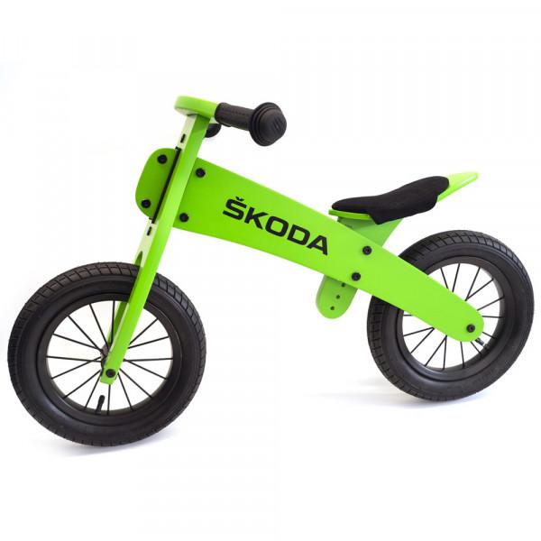 Original Skoda Kinder Laufrad Holz grün Spielzeug Zubehör Accessoires