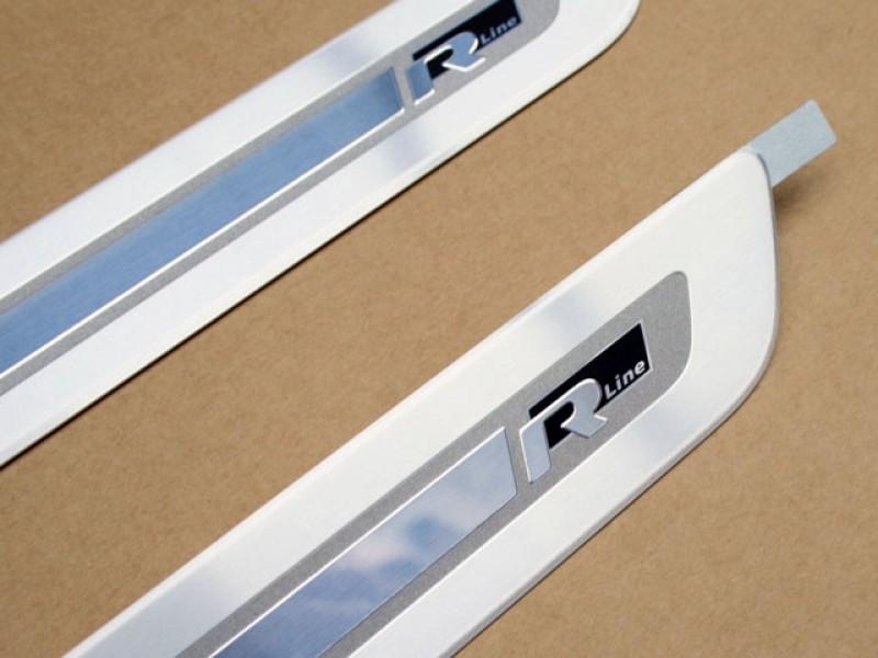 golf 6 r line edelstahl einstiegsleisten set. Black Bedroom Furniture Sets. Home Design Ideas