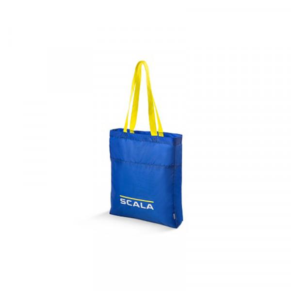 Original Skoda Scala Einkaufstasche faltbar Shopping Tasche Bag blau/gelb