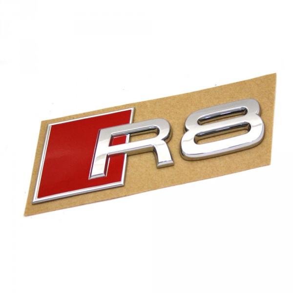Original Audi R8 Schriftzug hinten Exterieur Emblem Heckklappe Logo chrom