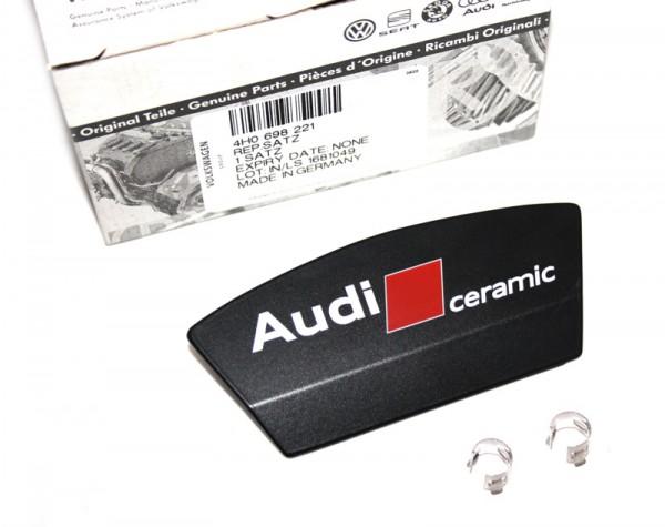 "Reparatursatz Original Audi ""Ceramic"" Bremssattelblende mit Emblem Tuning Blende Hinterachse"