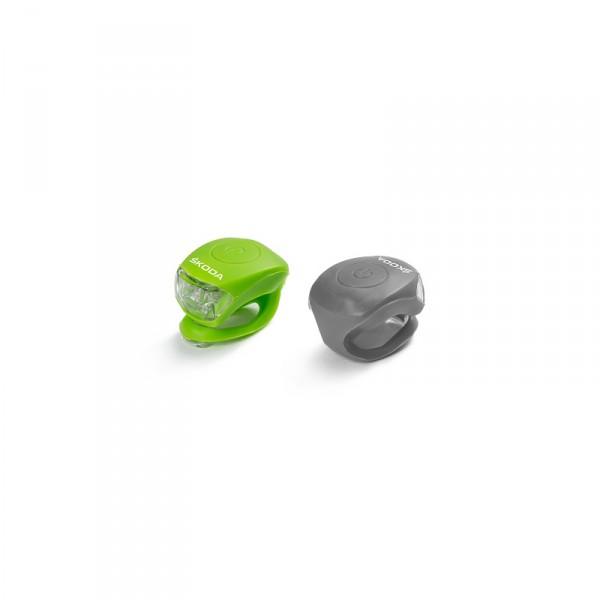 Original Skoda LED Multifunktionslichter Set grün anthrazit Lampen Accessoires