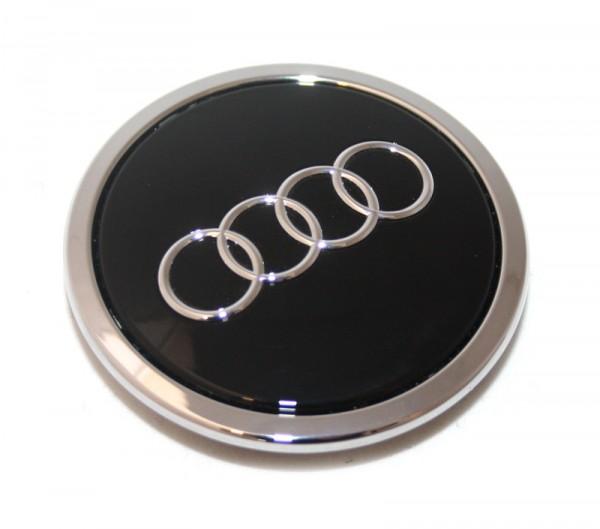 Radzierkappe Original Audi Nabenkappe Tuning Deckel für Aluf. schwarz glänzend
