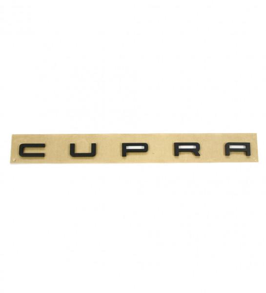 Original Seat Leon (5F) Cupra Schriftzug hinten Heckklappe Tuning Emblem schwarz matt