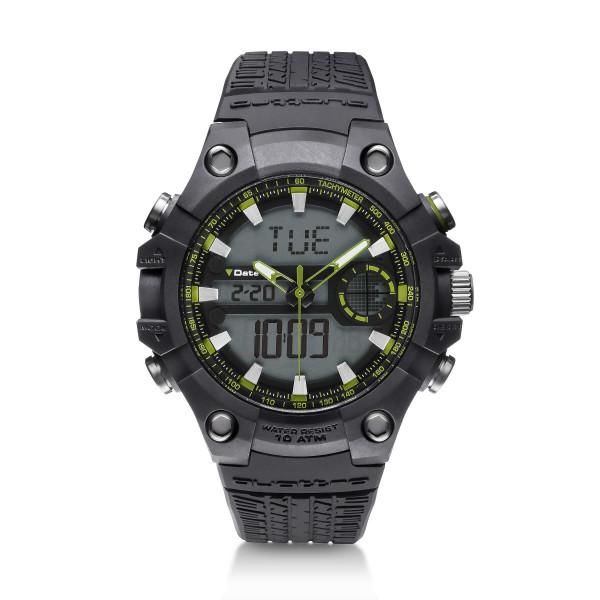 Original Audi Quattro Outdoor Uhr Chronograph Armbanduhr Herren grau/grün 3101800200