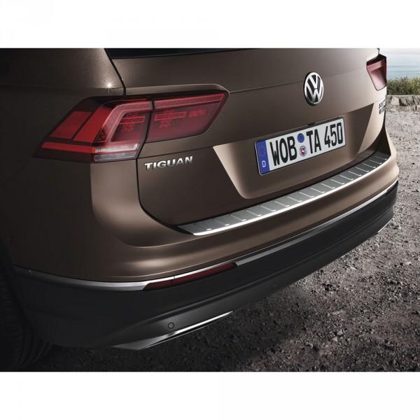 Original VW Tiguan (MQB) Edelstahl Ladekanten Schutz hinten Heckklappe Stoßfänger