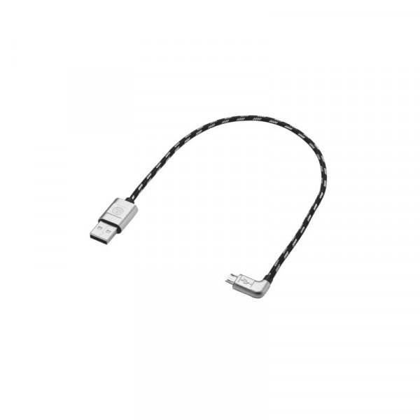 Anschlusskabel USB-A auf Micro-USB Adapter Original VW Premium Kabel 30cm gewinkelt 000051446AQ