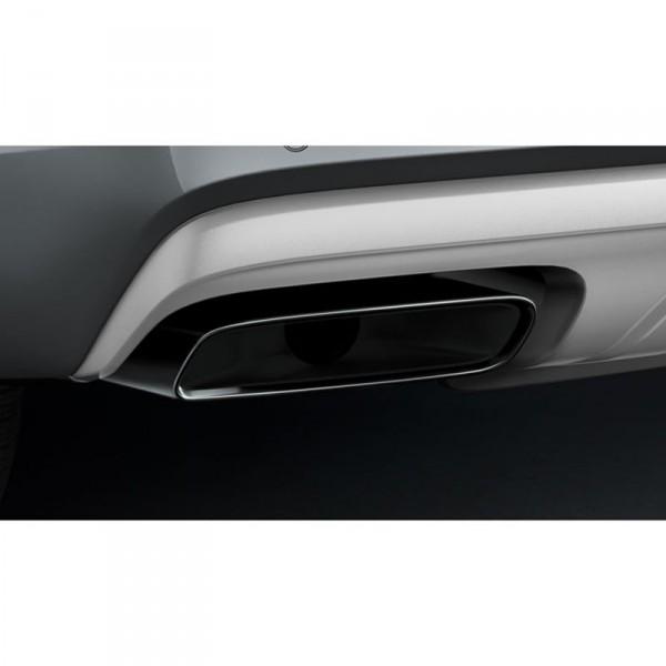 Original Audi Q7 (4M) Sport Endrohrblenden 2.0 TFSI schwarz verchromt Exterieur Blenden