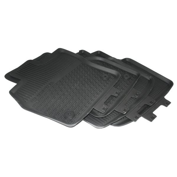 Gummi Fußmatten 4x Gummimatten Original Skoda Superb 3V Allwettermatten schwarz