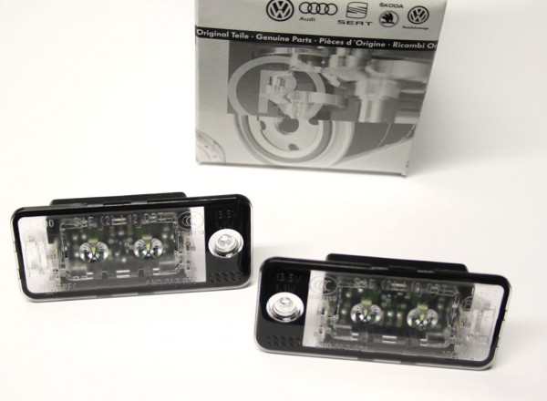Original Audi LED Kennzeichenleuchten SET (A3 A4 A6 A8)
