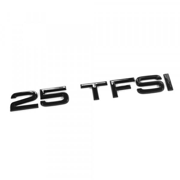 Original Audi 25 TFSI Schriftzug schwarz Tuning Exclusive Black Edition Heckklappe Emblem