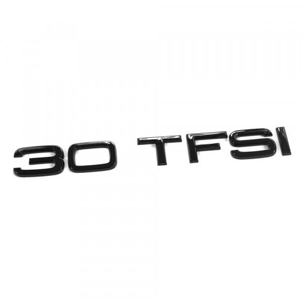 Original Audi 30 TFSI Schriftzug schwarz Tuning Exclusive Black Edition Heckklappe Emblem