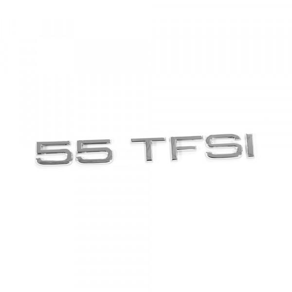 Original Audi 55 TFSI Schriftzug hinten Heckklappe Emblem Logo chrom