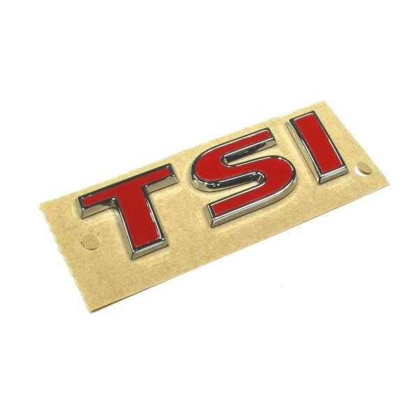 Schriftzug TSI Buchstaben rot Original VW Touran Emblem Logo