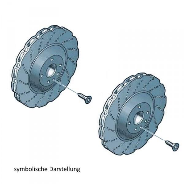 Original Audi Bremsscheiben RS4 Bremsen Hinterachse gelocht 8K0615601G