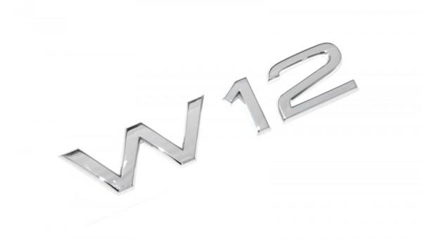 Schriftzug W12 Original Audi Tuning Emblem Heckklappe Typzeichen Chrom