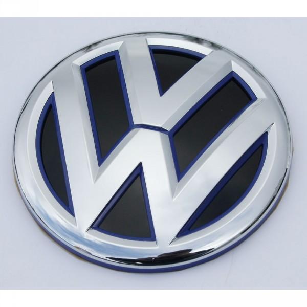 Original Jetta VW Emblem hinten Heckklappe Zeichen chrom ultramarineblau schwarz